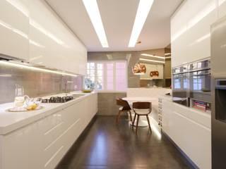 Projeto de Remodelação total de Apartamento em Lisboa Cozinhas modernas por SPACITUDE INTERIORS Moderno