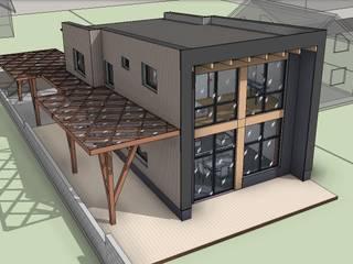 Лофт в садоводстве на 4 сотках: Дома в . Автор – АРХ студия Антона Никитина, Лофт