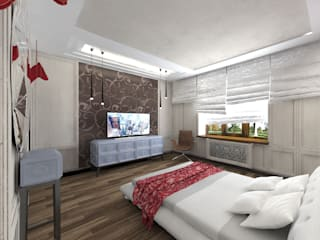 STUDIO DESIGN КРАСНЫЙ НОСОРОГ Chambre industrielle Marron