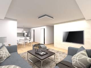 Salas de estilo moderno de (주)바른주택 Moderno