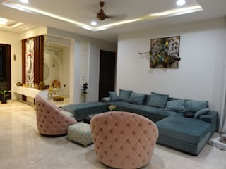 Residential Interiors of a Bungalow Modern living room by Ar. Sandeep Jain Modern