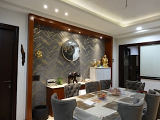 Residential Interiors of a Bungalow Modern dining room by Ar. Sandeep Jain Modern