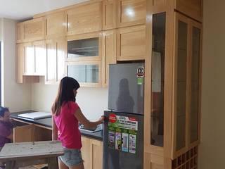 Top mẫu tủ bếp gỗ sồi nga giá rẻ chỉ từ 15 triệu đồng cho mọi nhà bởi Nội thất Nguyễn Kim