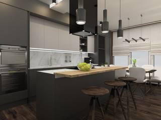 Двухуровневая квартира в Крюковщине Кухня в стиле лофт от Торохтий Елена Лофт