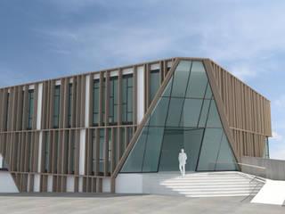 EDIFICIO DE OFICINAS: Edificios de oficinas de estilo  de INARQ Espacio, Moderno