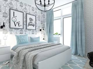 Дизайн квартиры в Киеве Спальня в скандинавском стиле от Торохтий Елена Скандинавский