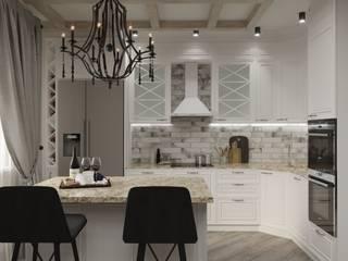 кухня гостиная в загородном доме Гостиная в стиле кантри от Евгения Ковалева Кантри