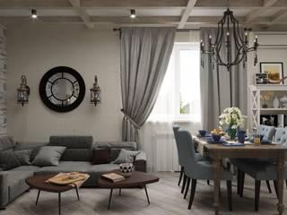 кухня гостиная в загородном доме Гостиная в классическом стиле от Евгения Ковалева Классический