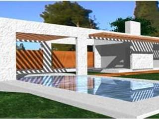 Pool House de UP arquitectos Minimalista