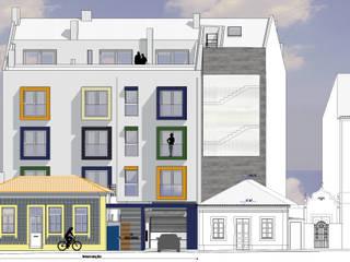 Rua Aires Barbosa, n.ºs 23 e 25, em Aveiro Espaços comerciais minimalistas por Arquitecta Salette Marques Unipessoal Lda. Minimalista