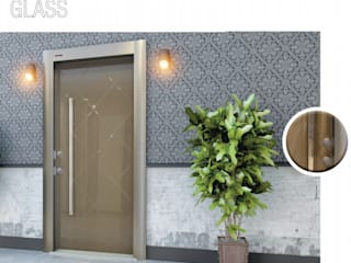 Çalık Konsept Mimarlık Windows & doors Doors Glass Beige