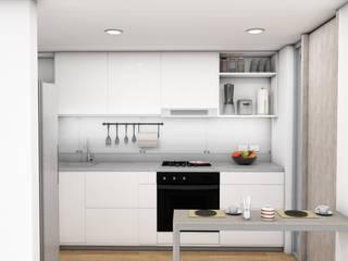 Plano 13 Kitchen Plywood White