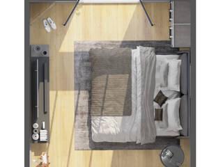 Render Interior Recamara de J.A. Render Moderno