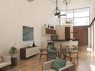 Salas de estar modernas por Punto Libre Arquitectura Moderno