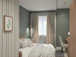 Zhanna Kazakova Minimalist bedroom Beige