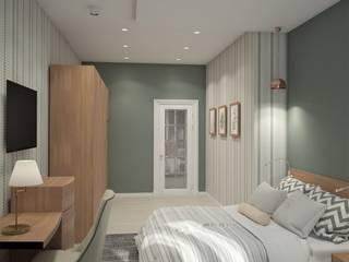 Zhanna Kazakova Minimalist bedroom Green