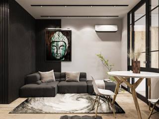 One-room apartment-studio Гостиная в стиле модерн от AEgroup Модерн