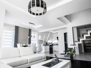 nowoczesne wnętrze domu/ l'intérieur moderne Nowoczesny salon od Agnieszka Kobialka-Suszek Nowoczesny