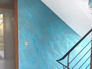 Hofele Stuckateur und Maler-Betrieb Koridor & Tangga Modern Turquoise