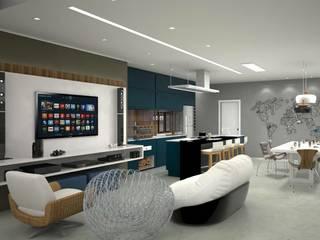 Espaço Gourmet - CN Varandas, alpendres e terraços modernos por MJR Arquitetura e Engenharia Moderno