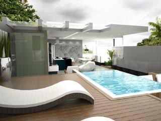 Espaço Gourmet - CN por MJR Arquitetura e Engenharia Moderno