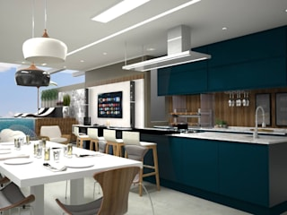 MJR - ENGENHARIA | GERENCIAMENTO | DESIGNERS Modern terrace