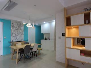 在城市,打造 優雅品味方程式 根據 雅和室內設計 現代風