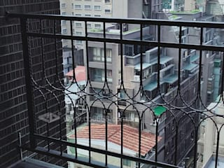 台北市新生北路陽台外推增設欄杆.推窗改通風門 正邦建材實業有限公司 陽台