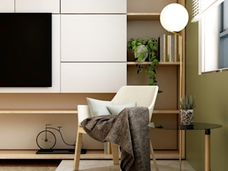 Minimalist living room by Coohom Minimalist