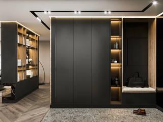 Студия авторского дизайна ASHE Home Eclectic style corridor, hallway & stairs