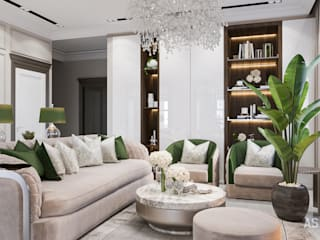 Eclectic style living room by Студия авторского дизайна ASHE Home Eclectic
