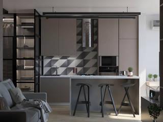 Квартира-студия для ведущего Ильи Тернового от юлия солопчук J.Solo.Design Минимализм