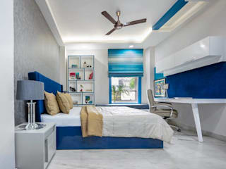 Elegant and Designer 3BHK Delhi Home: modern  by Orizzonte Interiors Private Limited,Modern