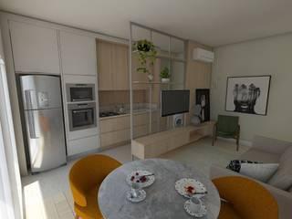 You New Style - Itajaí Salas de estar escandinavas por Plurale Arquitetura Escandinavo
