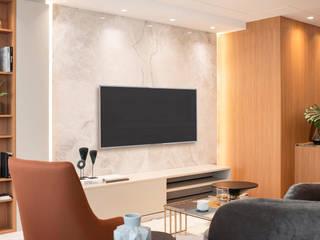 Apartamento TR - Edifício Edgar Wegner Salas de estar modernas por Plurale Arquitetura Moderno
