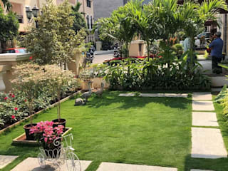 Lawn integration with gardening by Setgreen Asian