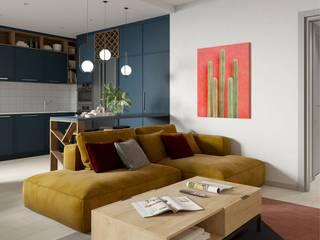 Цвет имеет значение Гостиные в эклектичном стиле от Art Family Эклектичный