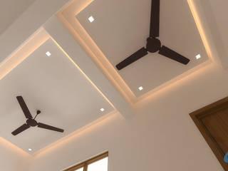 Mr.Jagadeesh Residence Modern living room by Aesthetic Minds Modern