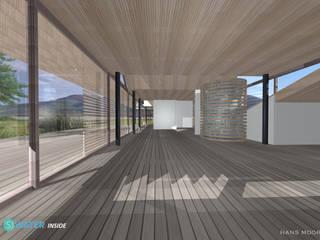 Salas de estilo moderno de hans moor architects Moderno