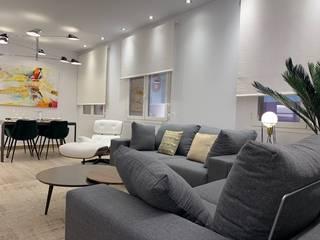 Reconversión cine dúplex a apartamentos en Barrio Salamanca, Madrid Bilbaodiseño Salones de estilo moderno