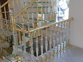 DEKODİZAYN pirinç mob. dek. ltd. şti. Stairs Glass Yellow