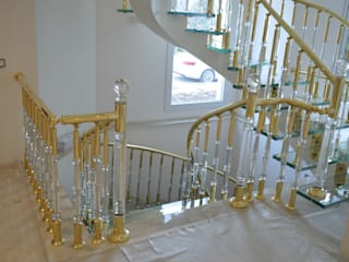 DEKODİZAYN pirinç mob. dek. ltd. şti. Stairs Copper/Bronze/Brass Yellow