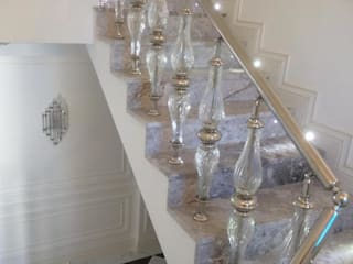 DEKODİZAYN pirinç mob. dek. ltd. şti. Stairs Glass Metallic/Silver