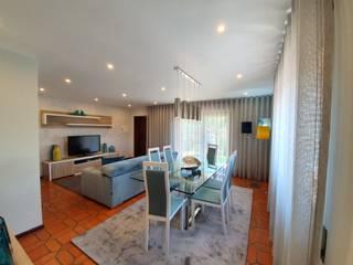 Projecto Decoração de Interiores Sala Jantar e Estar ES Salas de jantar modernas por Versatilis Inovação Design Moderno