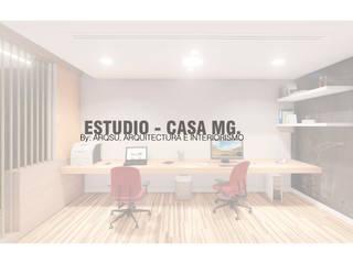 Estudio Estudios y despachos minimalistas de ARQSU, Arquitectura e Interiorismo Minimalista
