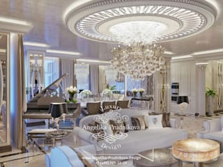غرفة المعيشة تنفيذ Дизайн-студия элитных интерьеров Анжелики Прудниковой , كلاسيكي
