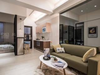 Ruang Keluarga Gaya Skandinavia Oleh SING萬寶隆空間設計 Skandinavia