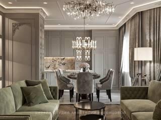 Дизайн квартиры в стиле Американской Классики Столовая комната в классическом стиле от Дизайн Студия Анастасии Вивенцовой Классический