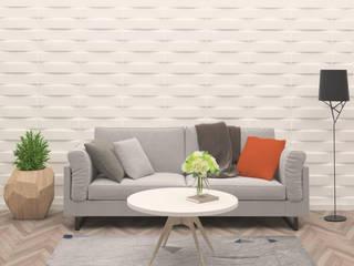 Sala de estar com painel de parede em Bambú por Severino Andrade, Unipessoal. Lda Mediterrânico