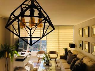 Vista general living Livings modernos: Ideas, imágenes y decoración de Oscar Saavedra Diseño y Decoración Spa Moderno